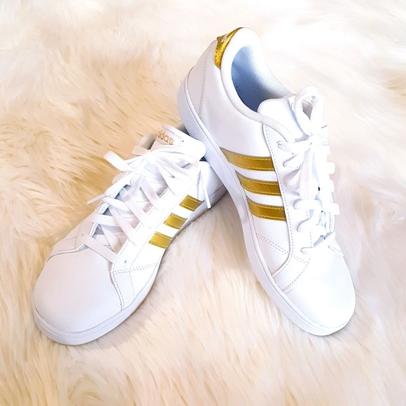 Adidas Neo Gold Striped Sneakers